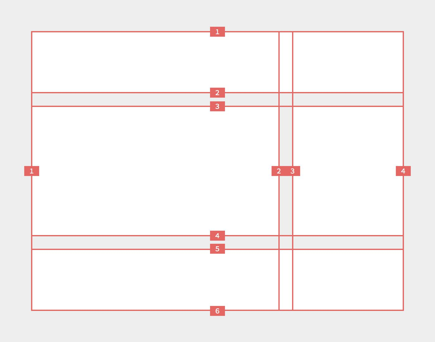 CSS grids lines